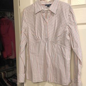 Woman's Nautical button down shirt